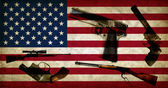 USA flag and weapons — Stock Photo