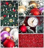 Christmas collage — Stock Photo