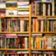 Blured books background - Foto Stock
