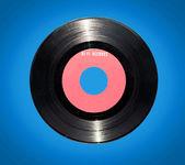 Retro vinyl record on blue background — Stock Photo