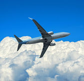 Airplane and sky — Stock Photo