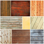 Wood textures collage — 图库照片