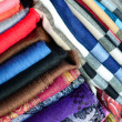 Stock Photo: Scarfs texture
