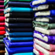 Colorful textiles background — Stock Photo