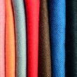 Stock Photo: Colorful textiles background