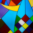 Multicolored glass mosaic background — Stock Photo