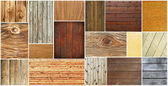 Wood textures collection — Stock Photo