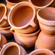 Stock Photo: Glazed ceramics or earthenware