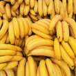 Fresh bananas background - Stock Photo
