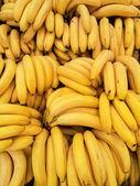 Fresh bananas background — Stock Photo