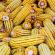 Stock Photo: Corn stored for winter background