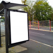 Stock Photo: Bus stop with a blank bilboard
