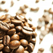 Coffee beans in white cup — Stock Photo #14093921