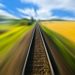 Railway track blurred — Stock Photo #14095119
