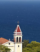 Church on the top of the Bohali hill in Zakynthos Greece — Stock Photo