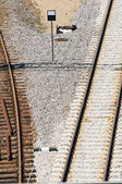 Railway detail — Stock Photo