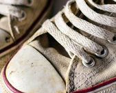 Pair of old sneakers closeup — Stock Photo