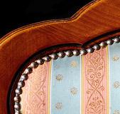 винтажная декоративная мебель - деревянный стул подробно — Стоковое фото