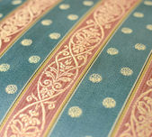 Vintage furniture textile closeup — Stock Photo