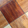 Wood parquet floor background — Stock Photo