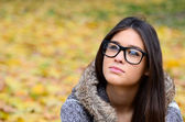 Young student girl in glasses portrait — Stock Photo