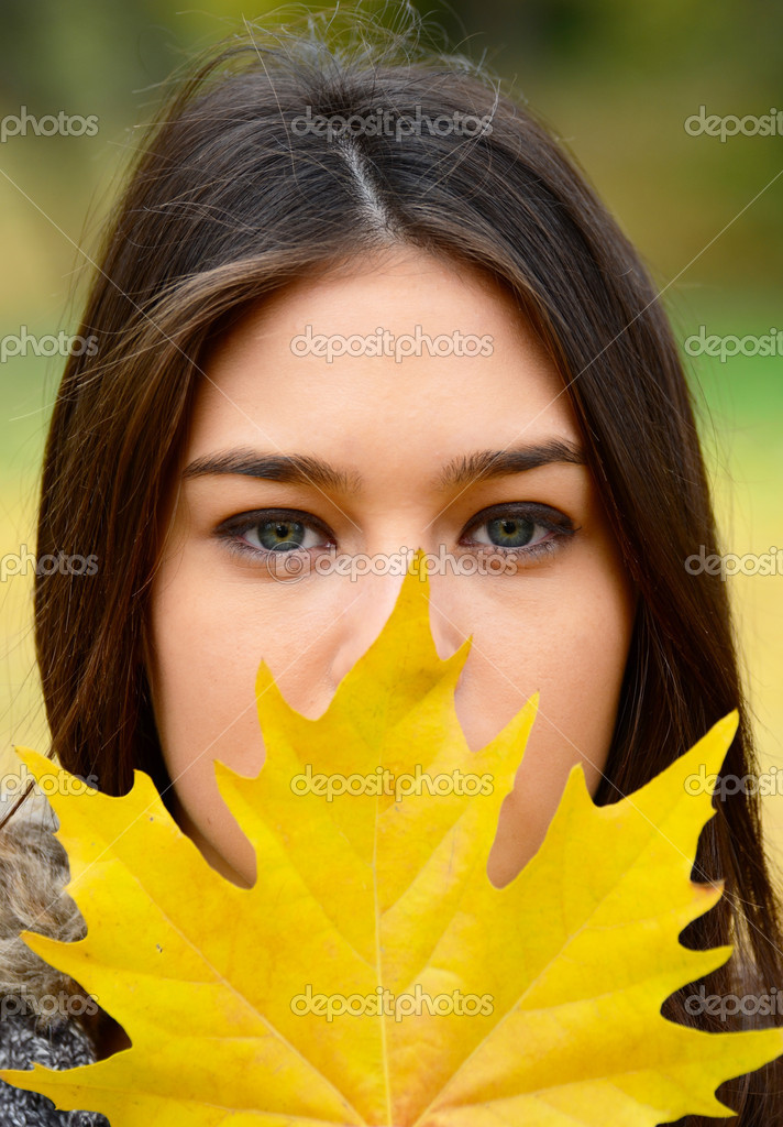 Autumn girl portrait  Stock Photo #14805179