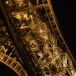 Detail at night of Eiffel Tower — Stock Photo