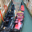 Gondolas at Venice canal — Stock Photo