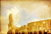 Coloseum in Rome vintage postcard — Stock Photo