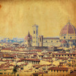 Stock Photo: Vintage image of town of Florence - Italy