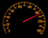 Car speedometer and counter - Speed concept — Stock Photo