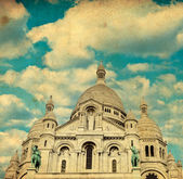 Vintage image of Sacre coeur Cathedral — Stock Photo
