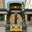 Anker clock on street in Vienna Austria — Stock Photo