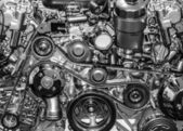Sport car engine — Stock Photo