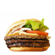 Stock Photo: Big tasty Hamburger isolated on white