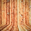 Wood room with panel and floor background — Stock Photo #16885087
