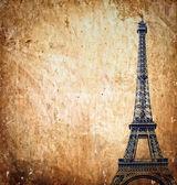 Eiffel tower on grunge background — Stock Photo