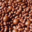 Chocolate balls background — Stock Photo