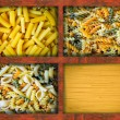 Royalty-Free Stock Photo: Pasta in wooden boxes