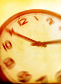 Vintage clock blurred - conceptual image of time running or pass — Photo