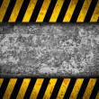 Stock Photo: Grunge metal background with black and yellow warning stripes