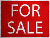 """""""FOR SALE"""" grunge metal sign — Stock Photo"""