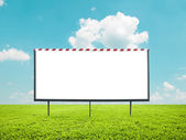 Blank billboard against beautiful landscape — Stock Photo