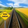 """RISK AHEAD"" sign - Business concept — Stock Photo"