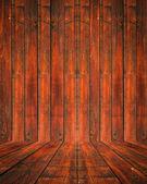 Empty wood room — Stock Photo