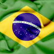 Brazil waving flag — Stock Photo