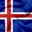 Iceland waving flag — Stock Photo