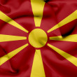 Macedonia waving flag — Stock Photo