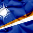 Marshall islands waving flag — 图库照片