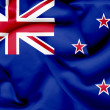 New Zealand waving flag — Stock Photo